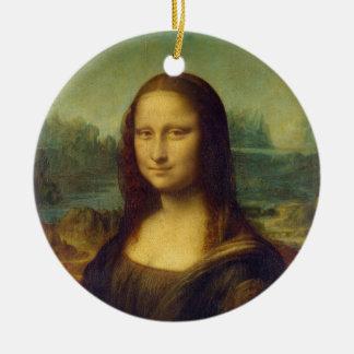 The Mona Lisa La Joconde by Leonardo Da Vinci Ceramic Ornament