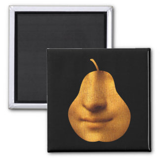 The Mona Lisa's Smile Square Magnet