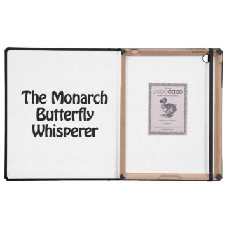 the monarch butterfly whisperer iPad cases