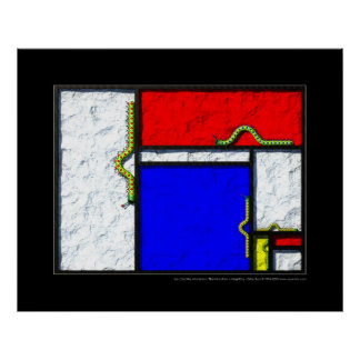 The Mondrian caterpillars Poster
