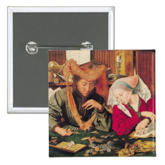 The Money Changer and his Wife, 1539 15 Cm Square Badge