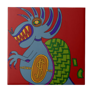 The Money Snail Ceramic Tile
