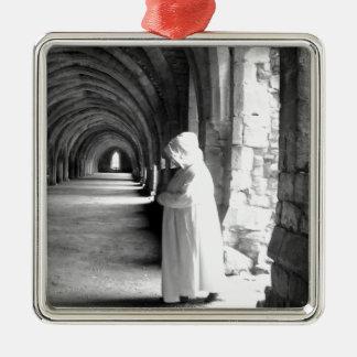 The Monk #1 Silver-Colored Square Decoration