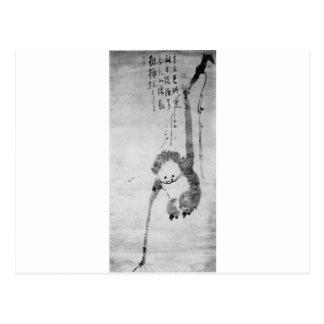 The Monkey by Hakuin Ekaku Postcard