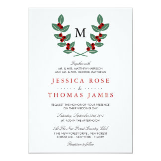 The Monogram Berry Bush Wedding Collection Card