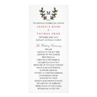 The Monogram Berry Bush Wedding Collection Customized Rack Card