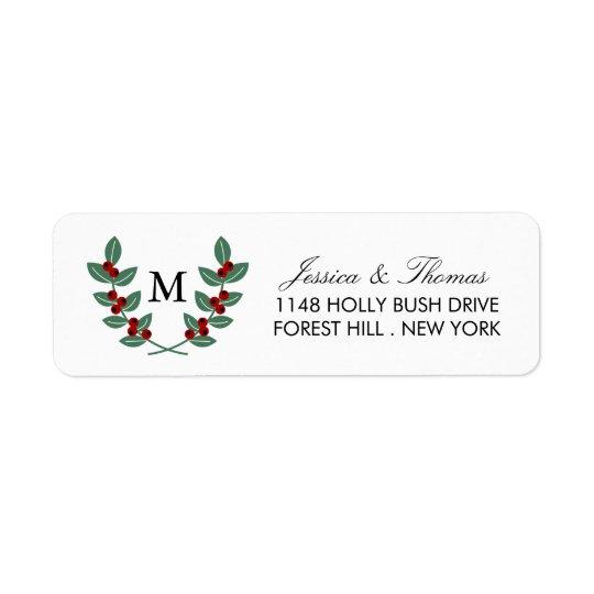 The Monogram Berry Bush Wedding Collection Return Address Label
