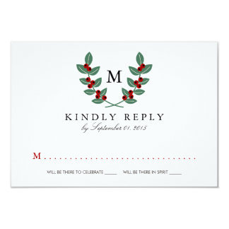 The Monogram Berry Bush Wedding Collection - RSVP Card