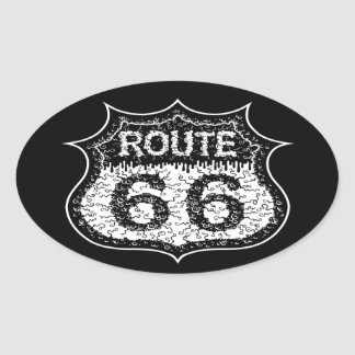 The Monster Road Oval Sticker