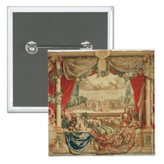 The Month of January/ The Louvre 15 Cm Square Badge