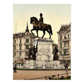 The Monument of Emperor William I Stettin German Postcard