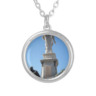 The monument Quattro Mori ( of the Four Moors ) Silver Plated Necklace