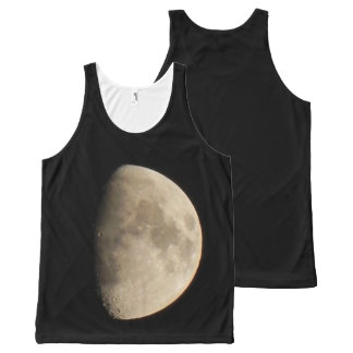 the moon All-Over print tank top