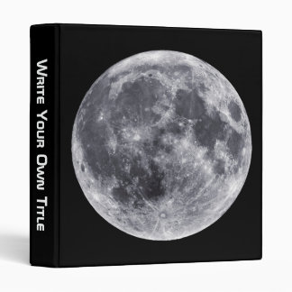 The Moon - Earth Side Front & Far Side Back 3 Ring Binder