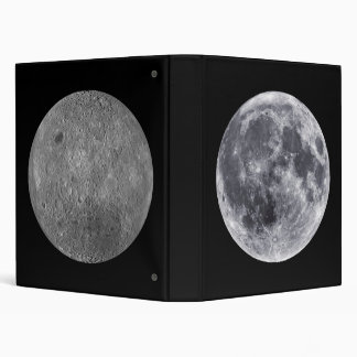 The Moon - Earth Side Front & Far Side Back Vinyl Binders