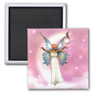 The Moon Faery Square Magnet