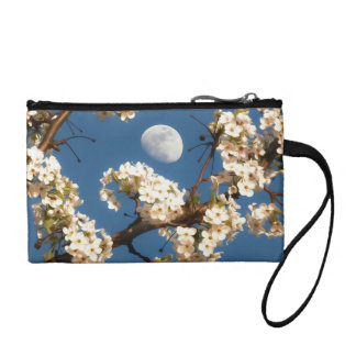The Moon Framed by a White Flowering Tree Coin Wallets
