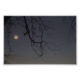 The Moon & Mercury Photo Print