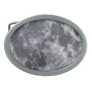 The Moon Oval Belt Buckle