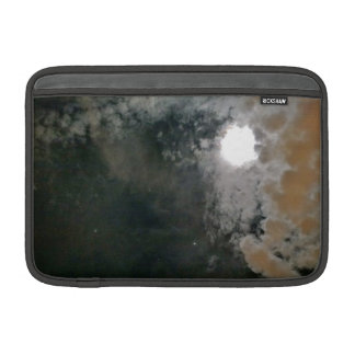 The Moon Peeking Through the Cloudy Night Sky Sleeve For MacBook Air