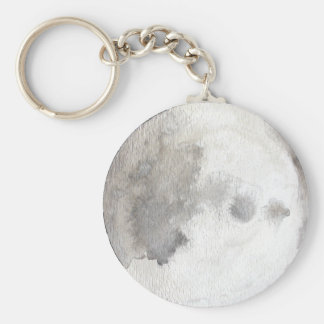The Moon Planet Watercolor Keychain