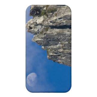 The moon rises and shines through the clouds iPhone 4 case