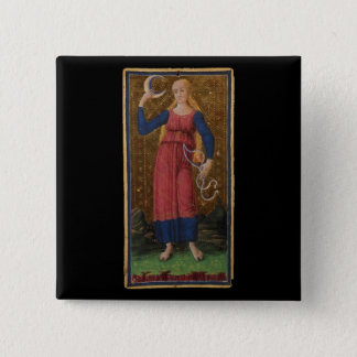 The Moon Tarot Card 15 Cm Square Badge