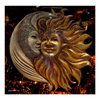 The Moon, The Sun, The Kiss Poster