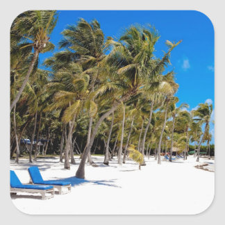 The Moorings Resort, Marathon, Key West, 3 Square Stickers