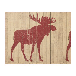 The moose is loose! wood wall decor