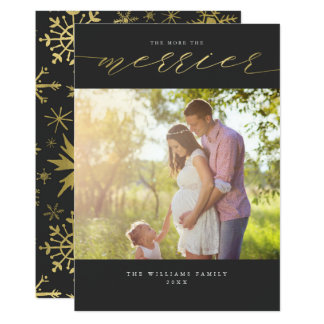 The More The Merrier Christmas Photo Cards