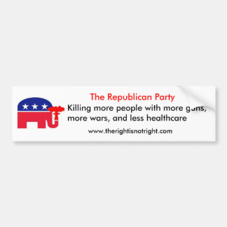 The Mores of the Republican Party Bumper Sticker