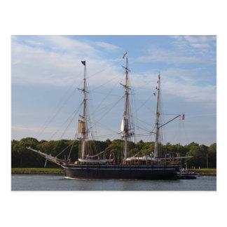 The Morgan Whaling Ship Postcard