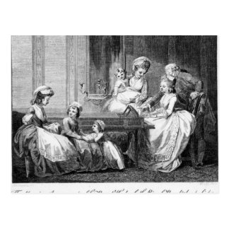 The Morning Amusements of the Royal Family Postcard