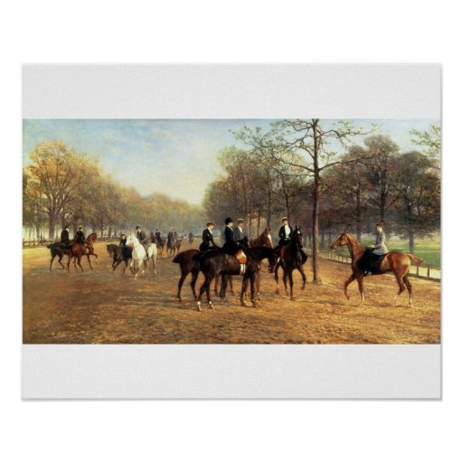 The Morning Ride, Rotten Row, Hyde Park, 1894 (oil Posters