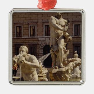 The Moro Fountain Silver-Colored Square Decoration