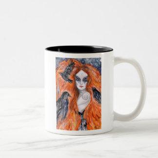 The Morrigan -  Warrior Queen Two-Tone Coffee Mug