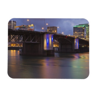 The Morrison bridge over the Willamette river Rectangular Photo Magnet