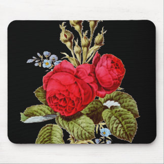 The Moss Rose - Vintage Fine Art Mouse Pad
