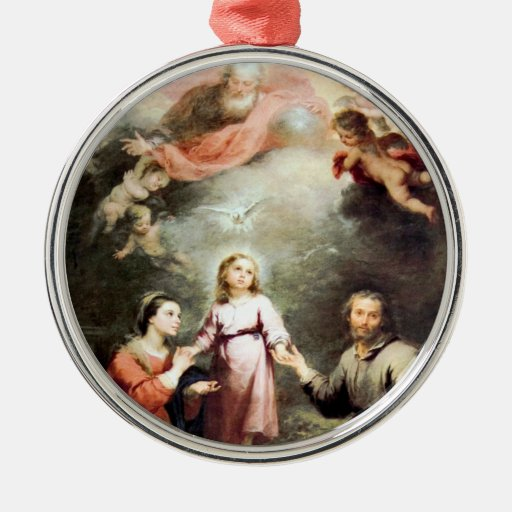 The Most Holy Trinity and The Holy Family Christmas Ornaments