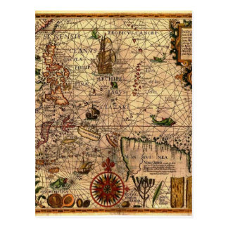 the most important hictoric Southeast Asia Map Postcard