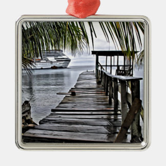 The most relaxing dock metal ornament