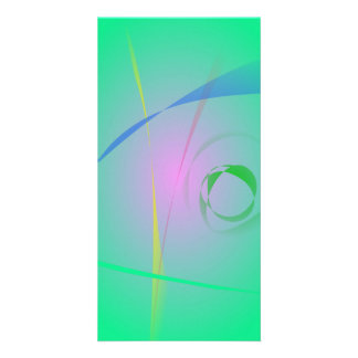 The Most Unique Green Abstract Design Photo Cards