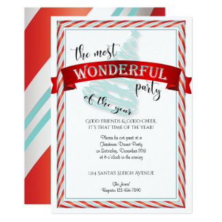 The Most Wonderful Time Christmas Party Card