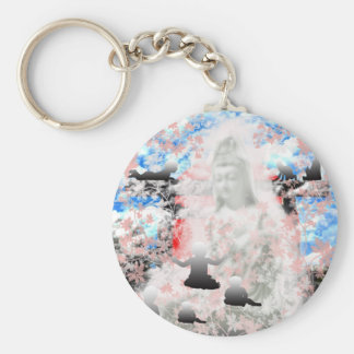 The mother question tsu it does, the yo basic round button key ring
