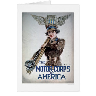The Motor Corps of America - Young Woman (US02076) Greeting Card