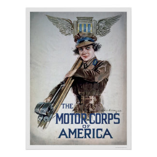 The Motor Corps of America - Young Woman (US02076) Poster
