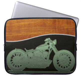 The motorcycle man laptop computer sleeve