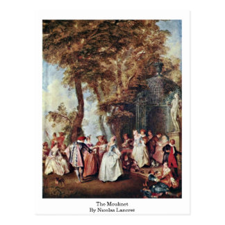 The Moulinet By Nicolas Lancret Postcard