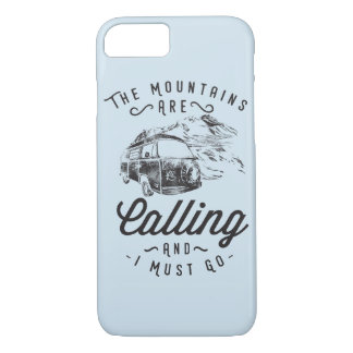 The Mountains Are Calling Glossy Phone Case